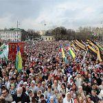 Православные новгородцы присоединились к общей молитве в защиту веры и поруганных святынь
