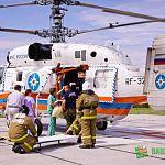 Обожжённых в Хвойнинском районе детей вертолётом доставили в новгородскую больницу