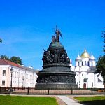 У памятника «Тысячелетие России» – банный день