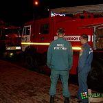 В Трубичино сгорело крыльцо магазина