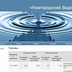 У «Новгородского водоканала» появился сайт