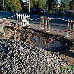Фотофакт: провал на улице Нехинской через неделю после обещания мэра