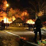 Пожару на Псковской присвоена категория «1 БИС»: новые фото