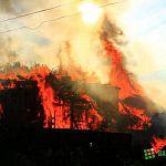Пожарные нашли тела женщины и двух детей в руинах сгоревшего в Батецком районе дома
