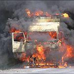 В Великом Новгороде сгорели пять фур