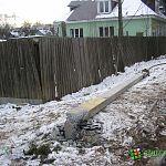 Фотофакт: в Великом Новгороде вчера сбили столб