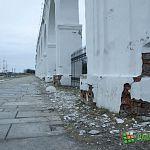 Фотофакт: аркада на Ярославовом дворище осыпается