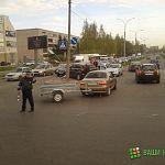 На пересечении Нехинской и Ломоносова снесли светофор