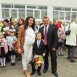 Дмитрий Игнатов отвел сына в первый класс