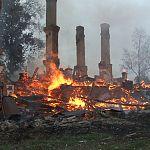 Загадочные пожары в Малой Вишере привели к митингу
