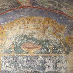 В псковском соборе, построенном новгородской артелью, нашли уникальную фреску с «рыбой святого Петра»