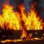 В Новгородской области сгорел междугородный автобус