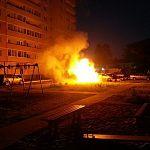 В Великом Новгороде ночью сгорела машина