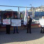 Новгородское «Яблоко» провело пикет против отмены льгот