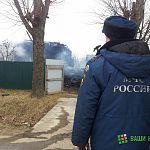 В деревне Волотово под Великим Новгородом полыхал дом