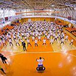 Новгородские школьники приняли участие во всероссийской зарядке