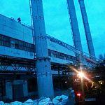 От пожара пострадала крыша «Стекловолокна»