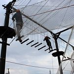 В Великом Новгороде открылся первый верёвочный парк
