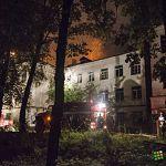 Ночью в Великом Новгороде снова тушили пожар в заброшенном военном госпитале