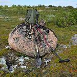 Новгородские поисковики нашли останки красноармейца у Кровавой высоты за полярным кругом