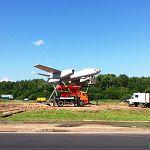Фотофакт: бомбардировщик на Лужском шоссе уже «в полёте»