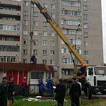 Вчера в Великом Новгороде снесли ларёк