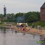 У кремлёвского пляжа в Волхове утонул мужчина