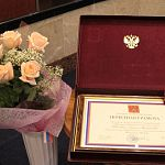 Президент наградил Сергея Митина почетной грамотой за вклад в развитие региона