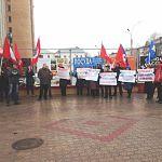 В Великом Новгороде прошёл митинг в защиту профсоюза