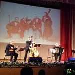 Знаменитый «Терем-квартет» сыграл, спел и сплясал в Великом Новгороде, да ещё и прослушал лекцию о Рахманинове