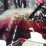 В новгородском магазине разбилось много бутылок коньяка