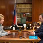 Андрей Никитин сегодня обсудил с Валентиной Матвиенко качество дорог, медицины и ЖКХ в Новгородской области