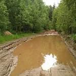 Из-за «Путиновской» деятельности дорога к нескольким маловишерским деревням превратилась в месиво