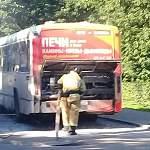 Сегодня на Большой Московской горел пассажирский автобус