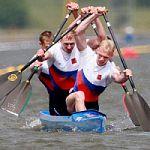 Спортивный праздник, посвященный 65-летию гребли на байдарках и каноэ в Великом Новгороде