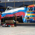 Новгородцы смогут увидеть самое большое граффити полотно на электропоезде