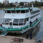В Великий Новгород прибыл круизный колесный теплоход для участия в праздновании 1150-летия зарождения российской государственности