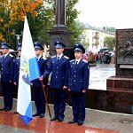 Церемония открытия рельеф-панно на мини-стелах мемориала «Город воинской Славы»