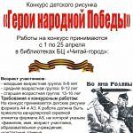 Конкурс детского рисунка «Герои народной Победы»