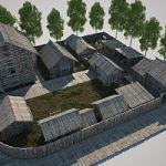 В Старой Руссе полным ходом идёт строительство музейно-туристического комплекса «Усадьба средневекового рушанина»