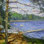 Персональная выставка Ольги Сауловой «Натюрморт. Пейзаж» в Мошенском районе