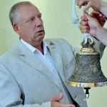 Сергей Митин подарил колокол Музейному колокольному центру в Валдае