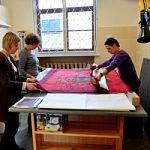 Музейные реставраторы восстановили боевое Знамя 86 Стрелкового полка