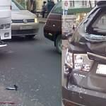 Фото: на Большой Санкт-Петербургской столкнулись автобус и легковушка