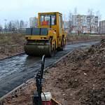 Новгородский парк Юности начали асфальтировать