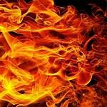 В деревне Парфинского района пожарные спасли человека из дома, который потом сгорел дотла
