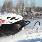 В Новгородской области снегоход врезался в автомобиль