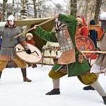 В зимнюю средневековую вологодскую деревню приехала дружина Ярослава Мудрого