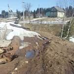 В любытинском поселке Теребутенец снова размывает мост