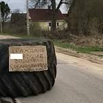 «Дорожный знак» с матерным словом появился в Новгородской области